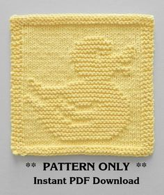 Knitting pattern for Rubber Ducky cloth