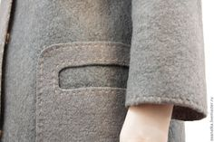 Купить Валяное пальто Краткость-СестраТаланта - ручная авторская работа, ручная вышивка, валяная одежда