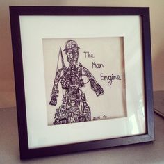 The Man Engine by Clobber-Creations.deviantart.com on @DeviantArt Free machine embroidered version of #manengine which toured Cornwall summer 2016 as part of its Cornish Mining heritage.