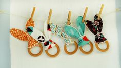 Organic Baby Teething Toy Arrows and Hearts by thebirdandelephant