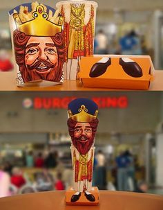 """Burger King Fun Packaging. I always found the """"king"""" a little creepy #packaging PD"""