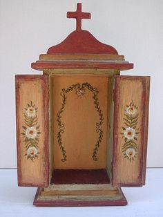 . Decoupage, Nativity Stable, Crucifix, Bookends, Objects, Mexican, Clock, Altars, Crafts