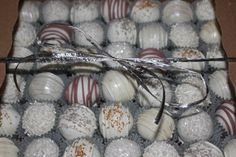 Wedding / anniversary cake balls