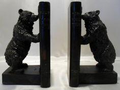 Playful Vintage American Black Bear Bookends SOLD