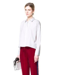 Image 1 de CHEMISE À MANCHES COURTES de Zara