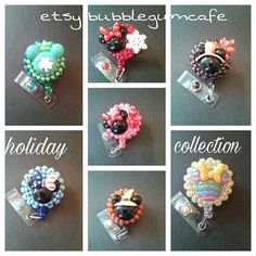 Disney* Mickey* & Minnie* Holiday Badge Reel Collection with Clip for Work, Conventions, Etc. by BubbleGumCafe on Etsy