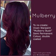 If I were to go with a deep purplish shade of red, this would be it......