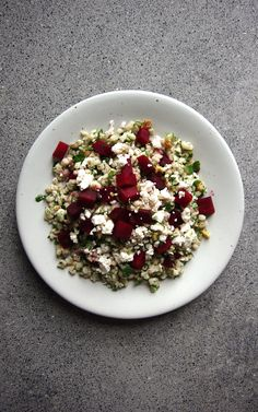 Warm Roasted Beet and Barley Salad in a Maple Mustard Dressing | Witchin' in the Kitchen