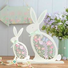 Fretwork Easter Bunny Decorations - easter home
