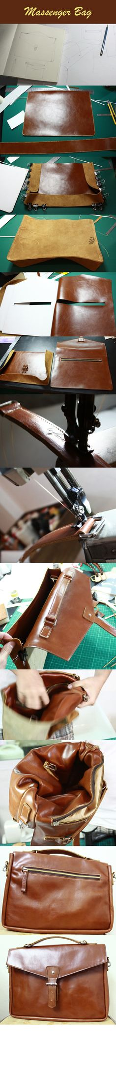 Classic leather bag tutorial - wow!