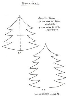 Christmas Trees – Christmas Crafts – My Grandchildren and Me – Made with schwedesign.