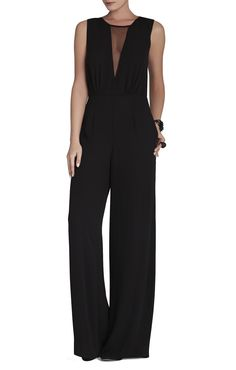 Behati Sleeveless V-Neck Jumpsuit | BCBG