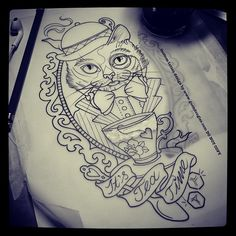 cat frame tattoos - Google Search