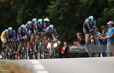 Nicolas Roche of Ireland and Team Sky and Leopold Konig of the Czech Republic and Team Sky during stage nine of the 2015 Tour de France, a 28km team time trial between Vannes and Plumelec on July 12, 2015 in Le Liziec, France. #TDF2015 #rm_112