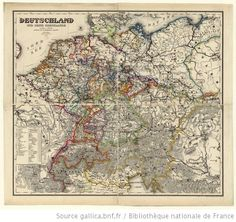 Map of Germany 1844