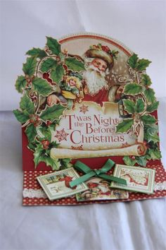 Graphic 45 T'was The Night Before Christmas' card 2 by Helen of Helen's Card Designs - Wendy Schultz ~ Graphic 45 Cards & Layouts.
