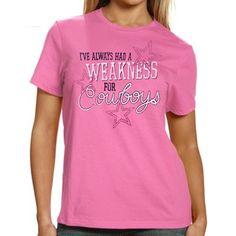 ffdc8006b Dallas Cowboys Womens My Cowboys T-Shirt - Pink