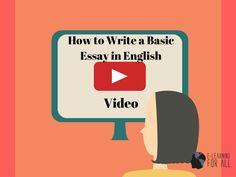 """E-Learning For All: """"Como Escrever Uma Redação em Inglês - Vídeo Aula""""..."""