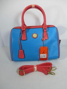Purse Hamiroo Fashion Bag Bright Blue Pink Straps Logo Kangaroo  Hamiroo   Satchel Fashion Bags 025bfb5093