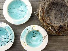 manos — Aqua Porcelain Bowl