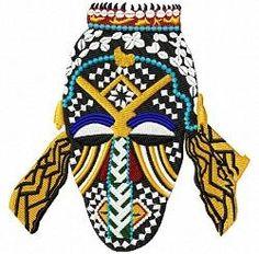 OregonPatchWorks.com - Singles - African Masks Singles