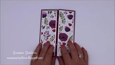Fancy Fold Cards, Folded Cards, Pop Up Flower Cards, Tarjetas Pop Up, Beautiful Birthday Cards, Poppy Cards, Hand Made Greeting Cards, Interactive Cards, Shaped Cards