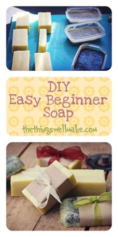 DIY Easy Beginner Soap with great ideas for customizing it and making it fun! DIY Easy Beginner Soap with great ideas for customizing it and making it fun!