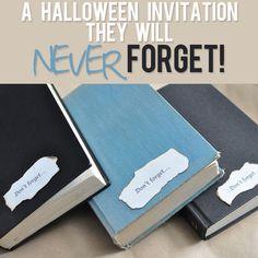 a Halloween invitation...with a spooky twist inside! howdoesshe.com #spookyinvitation