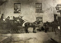 Bell Hotel, Market Street, Stourbridge, with Worcester Stage Coach outside Old Pictures, Old Photos, Long Lost Friend, Local Pubs, English Heritage, West Midlands, Slums, Old Buildings, Birmingham