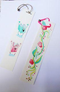 KARIKATOURA: Hand painted bookmarks! https://www.etsy.com/your/shops/ManoloShop/tools/listings