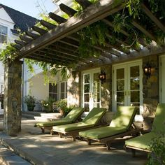 Vine covered pergola offers plenty of shade. http://www.easydiy.co.za/index.php/garden/479-the-shady-side-of-summer