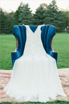 sarah jank wedding gown #weddingchicks http://www.weddingchicks.com/2013/12/20/red-and-navy-wedding-ideas/