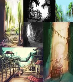 Environment Sketches by ~ereya on deviantART