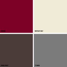 Kitchen Colors   Brown And Gray Color Scheme   Small Amounts Of Red Couch  Brown Walls Gray Trim Off White. Part 84