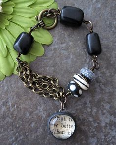 Charm bracelet: love the metal, the multi-strand chains, the large beads.