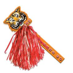"""18"""" Mascot Rally Stick Poms-Ask about Your Mascot from  http://www.schoolspiritstore.com/school-spirit-and-cheer-ideas/"""