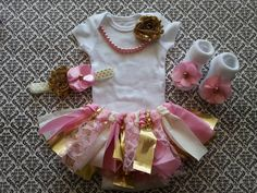 READY To SHIP Baby Girl Newborn Take Home by LeopardLaceLove