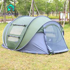 Star Home Large throw tent outdoor 3-4 persons automatic open throwing pop up waterproof & Folding pop up tent | Second Star To The Right | Pinterest | Beach ...