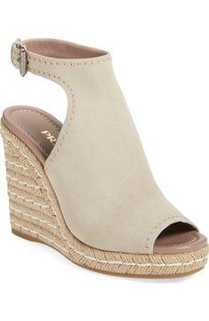 PRADA Ankle Strap Espadrille Wedge Sandal (Women). #prada #shoes #sandals
