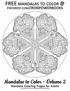 Advanced Mandala Coloring Pages for Adults @Ironpower Publishing | Please use freely for personal non-commercial use | For a complete 50 Advanced Mandalas to Color please visit http://www.amazon.com/Mandalas-Color-Mandala-Coloring-Adults/dp/1495387631 | It will be awesome to share your colored works with us! Follow @ironpowerbooks for more free Coloring Pages everyday!!