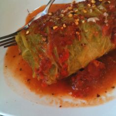 Stuffed cabbage: I made it per allrecipes.com recipe, all everything was great except for the flavor of the meat filling, so I substituted meat filling with my fave meatloaf recipe and voila!  Yummilicious!