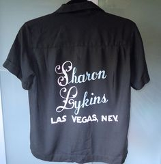 Vintage Ladies Bowling shirt embroidered Las by ToadshadeLane, $34.00