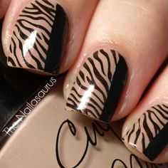 zebra nail art designs | Zebra nail design