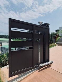 [053] 청주 블루체어 금속 대문 / 자동문 : 네이버 블로그 Door Gate Design, Garage Doors, Steel, Outdoor Decor, Home Decor, Decoration Home, Room Decor, Interior Design, Home Interiors