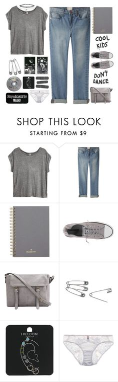 """Untitled #585"" by ccbri ❤ liked on Polyvore featuring H&M, Band of Outsiders, Mulberry, Converse, Topshop, Fleur of England and Miss Selfridge"