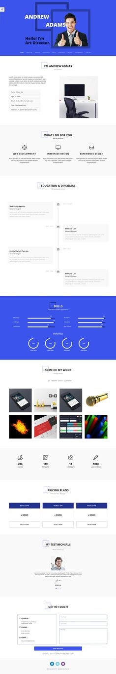 Sobnom is fresh and clean Design 2in1 responsive HTML #bootstrap - bootstrap resume template