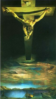 The Christ of StJohn of the Cross Surrealismus Ölgemälde