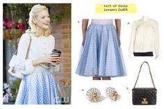Hart of Dixie 216 - Lemon Breeland's (Jaime King) outfit | Details on blog: popdetour.tumblr.com #tvfashion #fashion #outfits #style