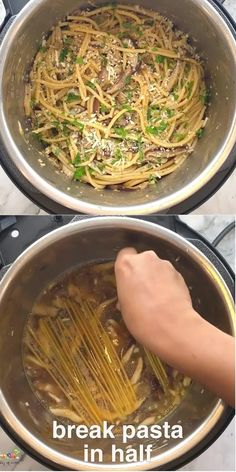Make an easy Instant Pot spaghetti dinner to feed a crowd. This recipe has rich and earthy shiitake mushrooms for extra flavor and nutrition. #ministryofcurry #instantpot #pasta Lamb Biryani Recipes, Curry Recipes, Vegetarian Recipes, Spaghetti Dinner, Spaghetti Recipes, Instant Pot Dinner Recipes, Delicious Dinner Recipes, Healthy Meals, Healthy Eating