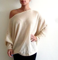 Plus size tunic top/ Oversize knitted top/ Women plus size sweater/ Dolman oversize knitted top with bat sleeves ON SALE on Etsy, $49.00
